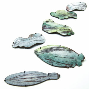 Green Cloud Brooches