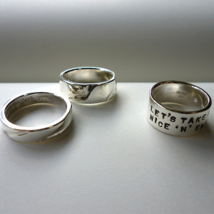 Order : Mr Y.N and Mrs N's n.N Rings & Nice'n'Easy Ring