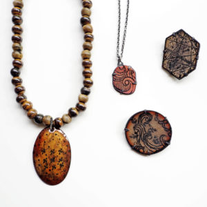 Classic series / Enamel Pendants and Brooches