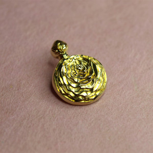 Ranunculus Pendant top / Brass