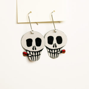 Smoking Skull Earrings