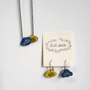 Order : S. M.'s Ume Matsu Earrings & Pendant / Enameling