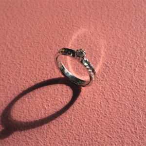 Order : Diamond & Engraving ring for Swechhya