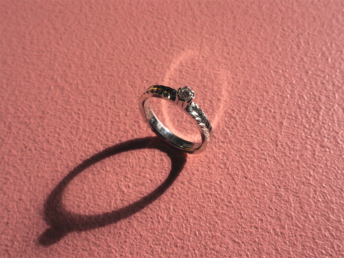 Order :S's Diamond and Engraving Ring