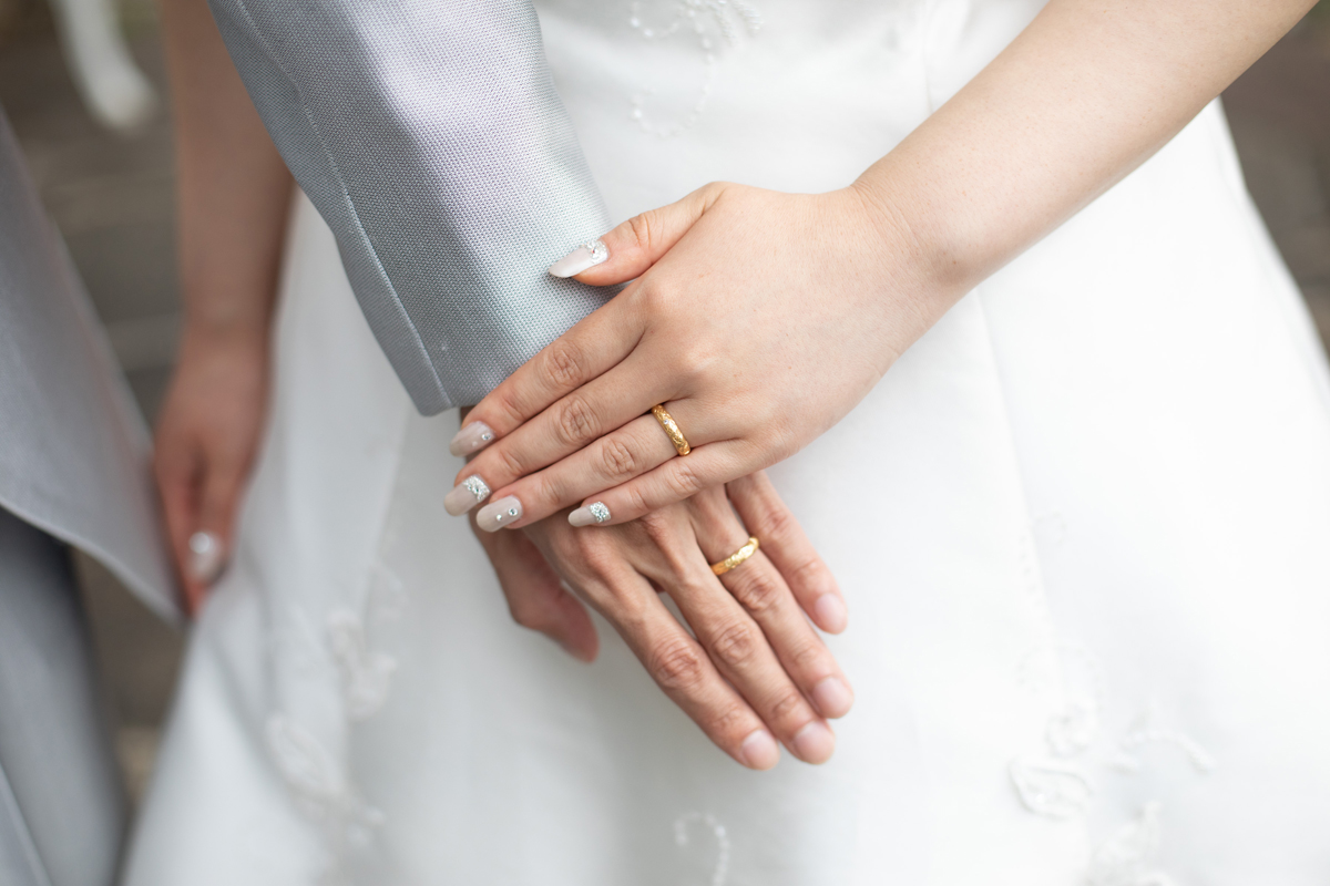 Order : Mr.&Mrs. K's Marriage Ring at a wedding ce...